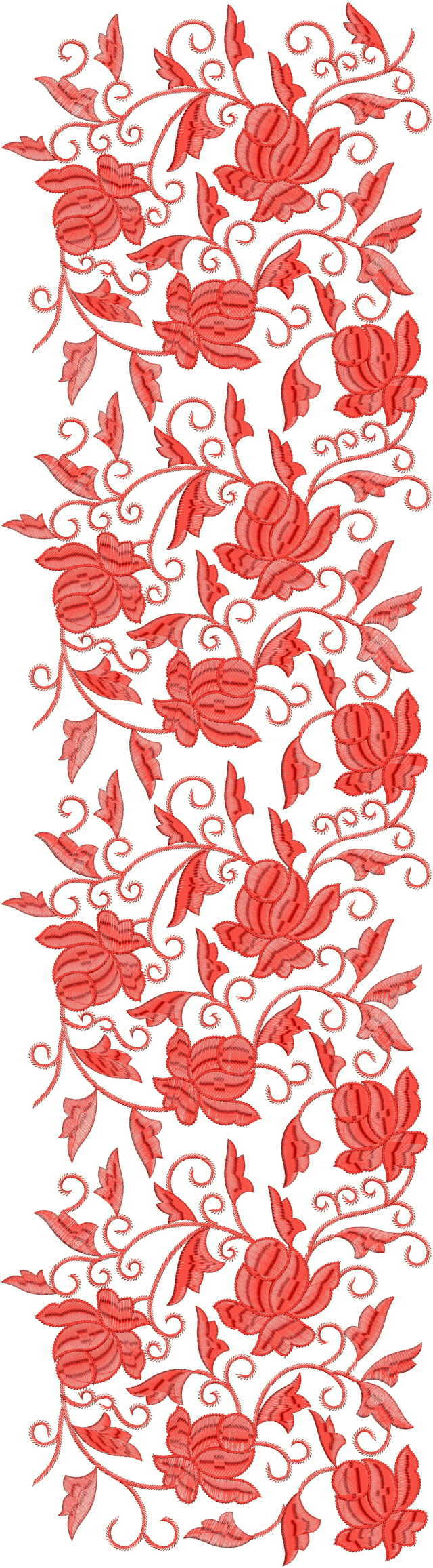 Beautiful flower jaal concept All over garment Embroidery Design