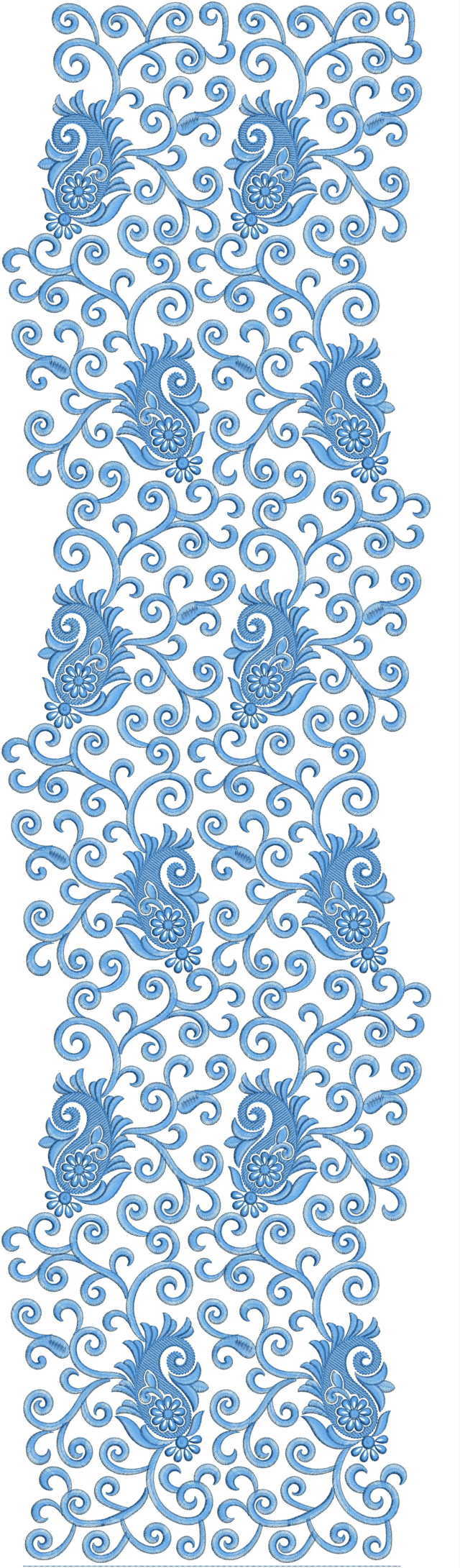Awesome jaal All over garment Embroidery Design