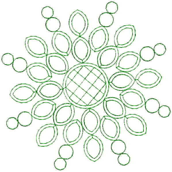 Round concept beautiful flower butta embroidery designs