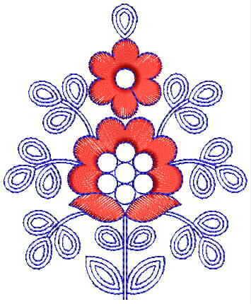 Small Butta Embroidery Design