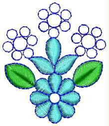 Small Butti Embroidery Design