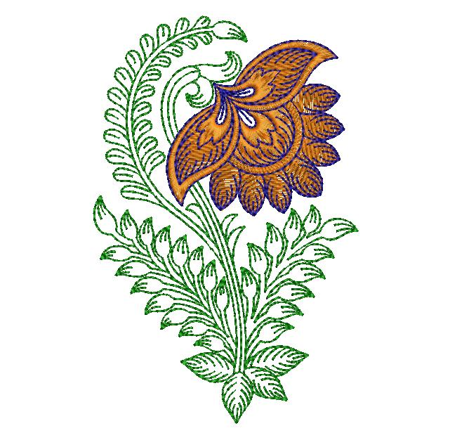 Awesome Flowers butta Embroidery Design