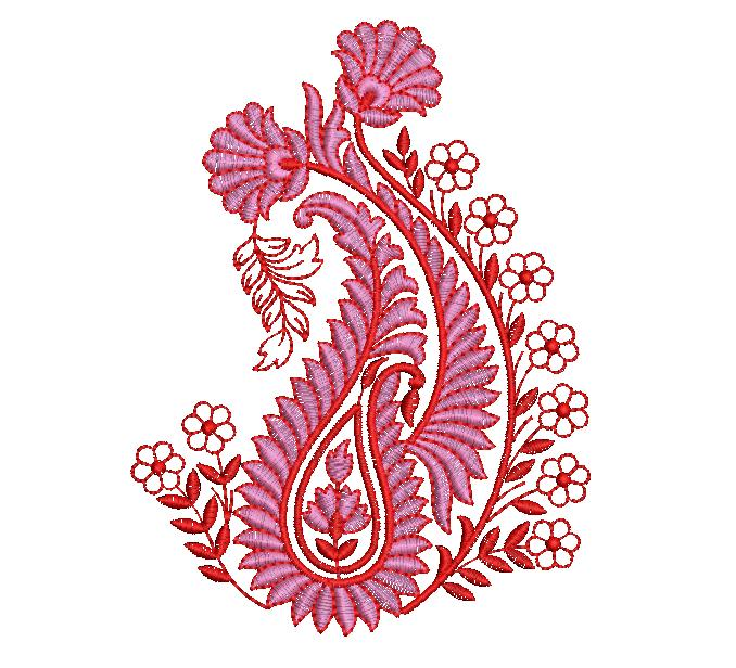 Awesome Mango Flower butta Embroidery Design
