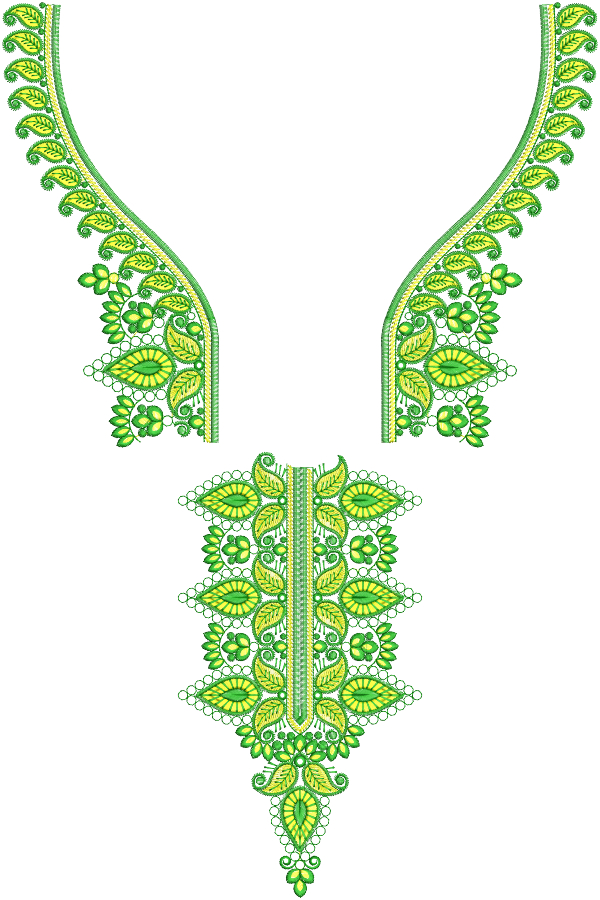Split Neck Embroidery Designs for Bother and Usha Janome Machines  6x10 Hoop size