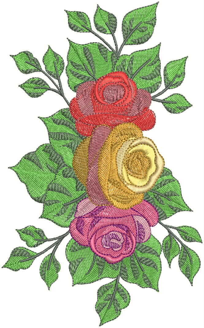 Flower embroidery desing