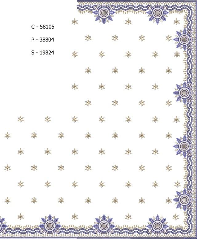 3 mm sequins c pallu skt saree Embroidery Design