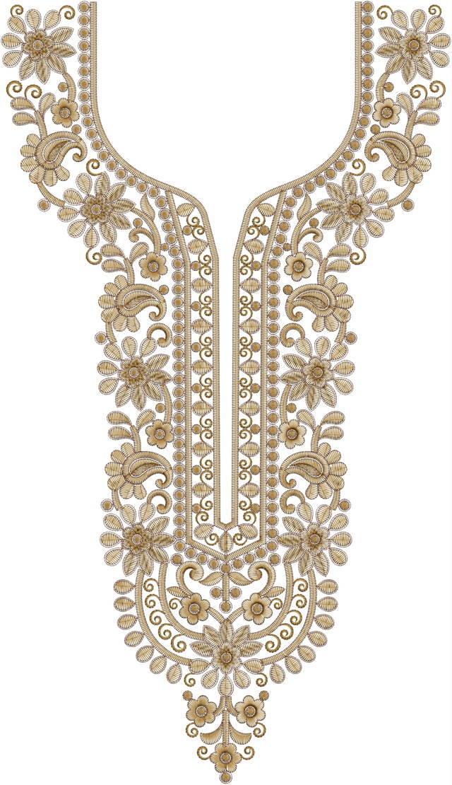 Neck Machine Embroidery Design