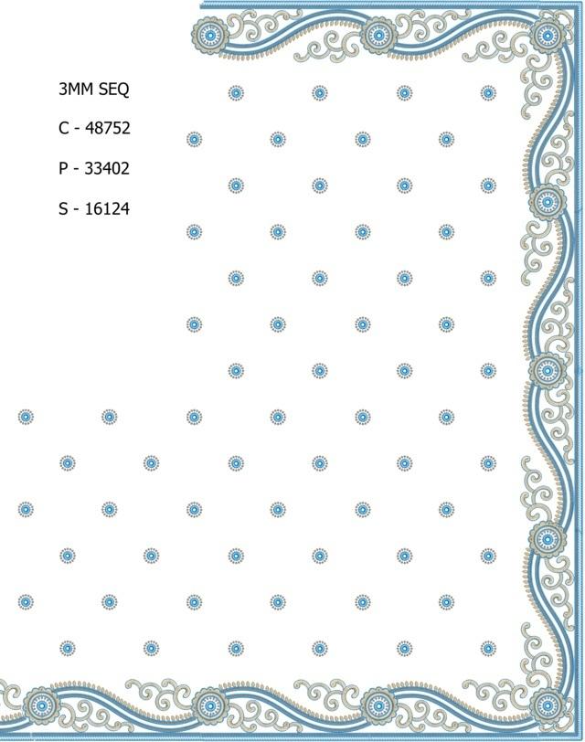 3MM Sequins Beautiful climber concept border c pallu skt saree embroidery designs