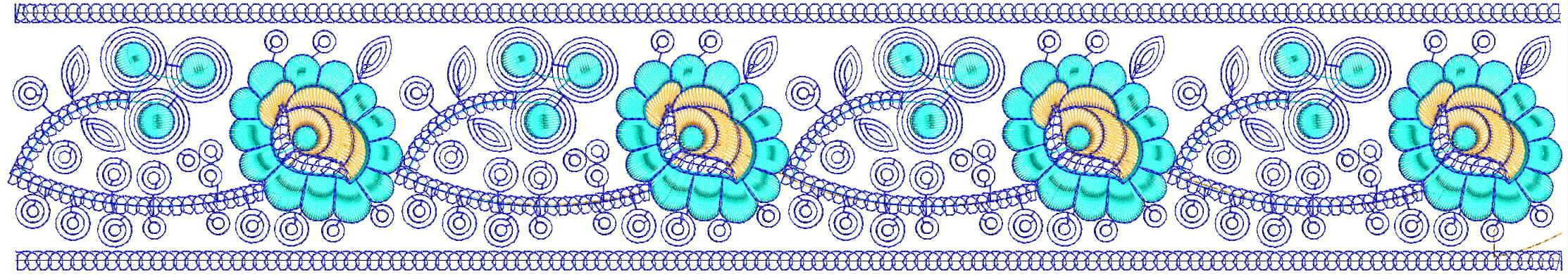 Unique Lace / Border Embroidery Design