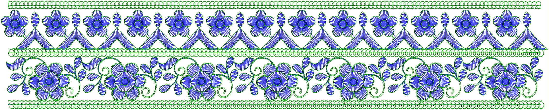Awesome lace/border Embroidery Design