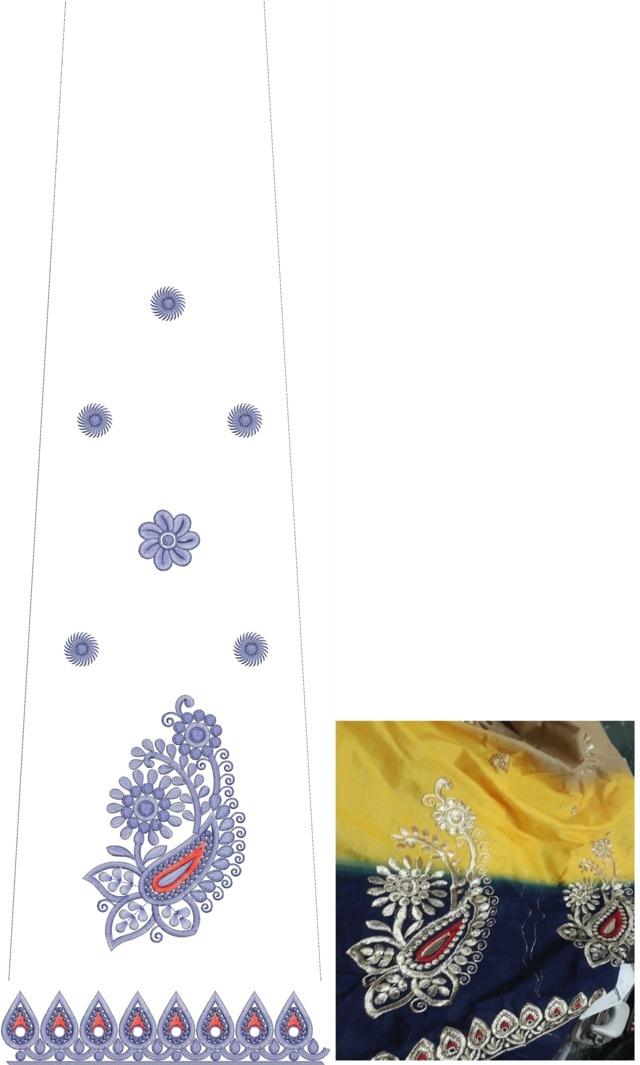 Rajasthani test mango concept Lehenga / kali Embroidery Design