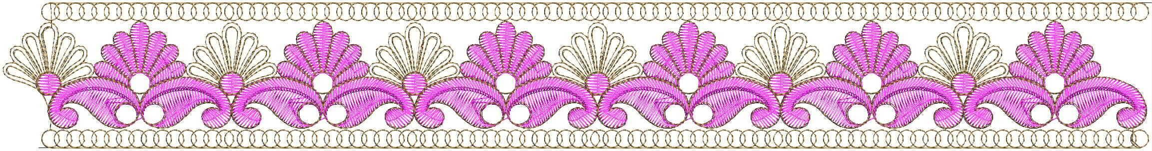 Unique Mango concept Lace / Border Embroidery Design