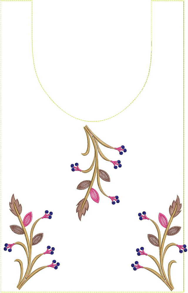 Simple kurti embroidery  Design
