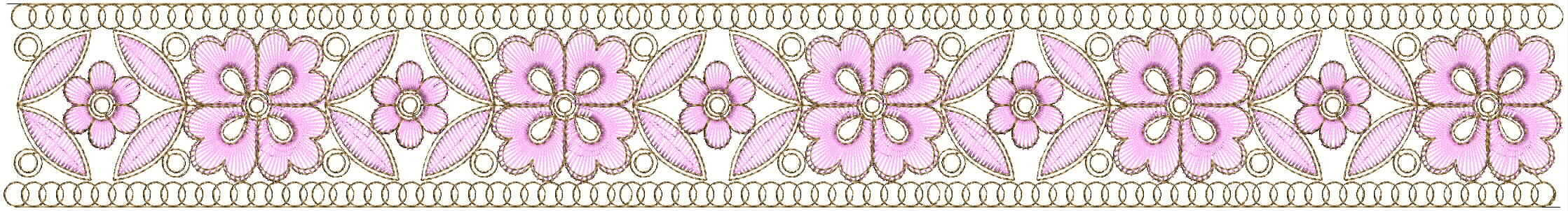 Small Beautiful lace/border embroidery designs
