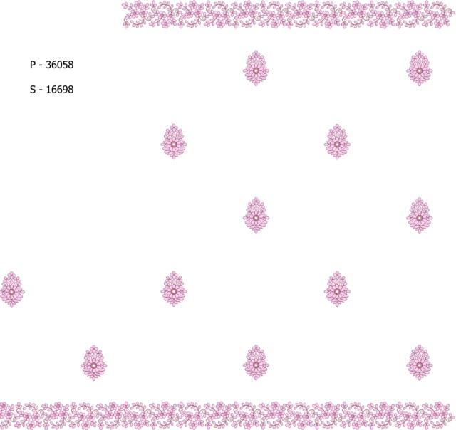 Pallu skt beautiful  butta  Saree Embroidery Design