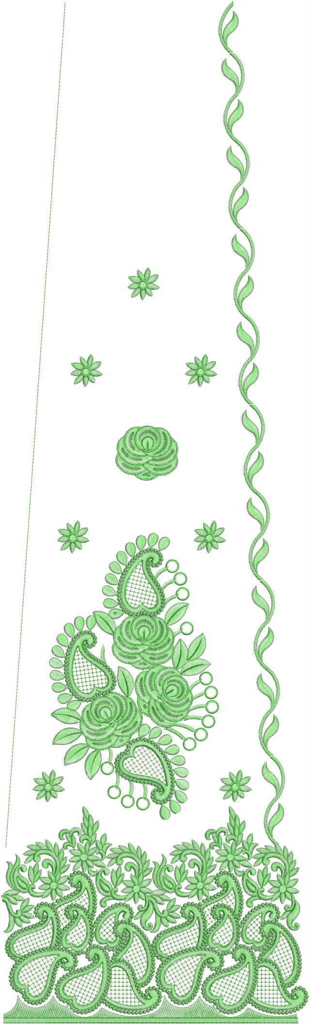 Rajasthani test Lehenga / kali Embroidery Design