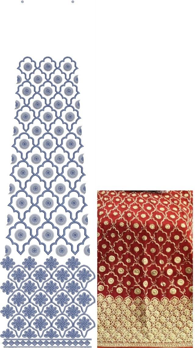 Heavy work concept Rajasthani test Lehenga / kali Embroidery Design