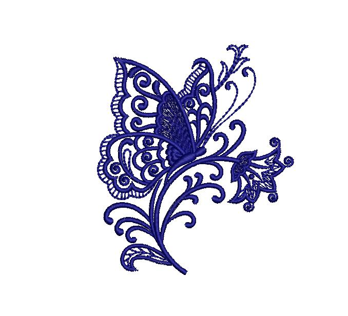 Butterfly butta embroidery design