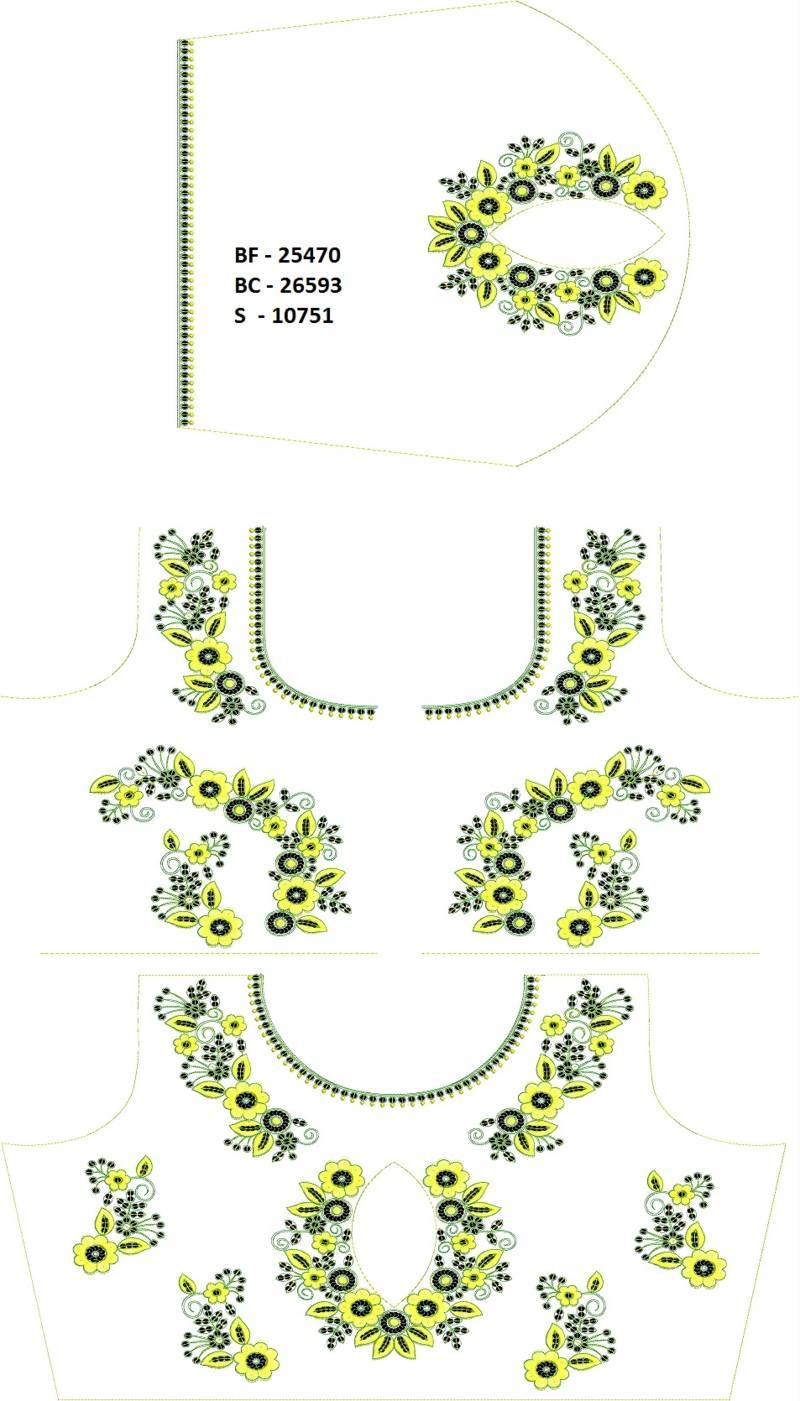 Blouse design sequin embroidery work