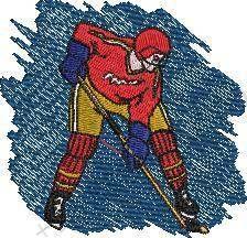 Hockey Sports Embroidery Design
