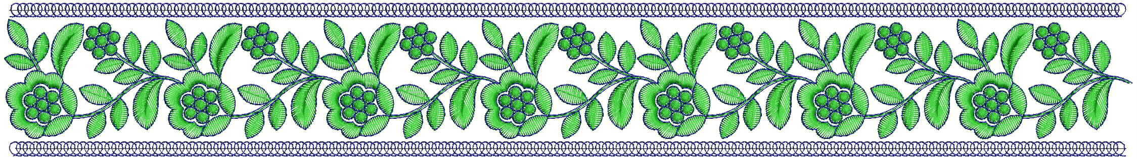 Flower Lace / Border Embroidery Design
