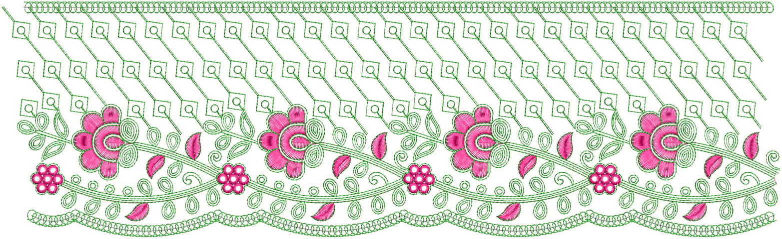 Beautiful flower cut work Lace/Border Embroidery Designs