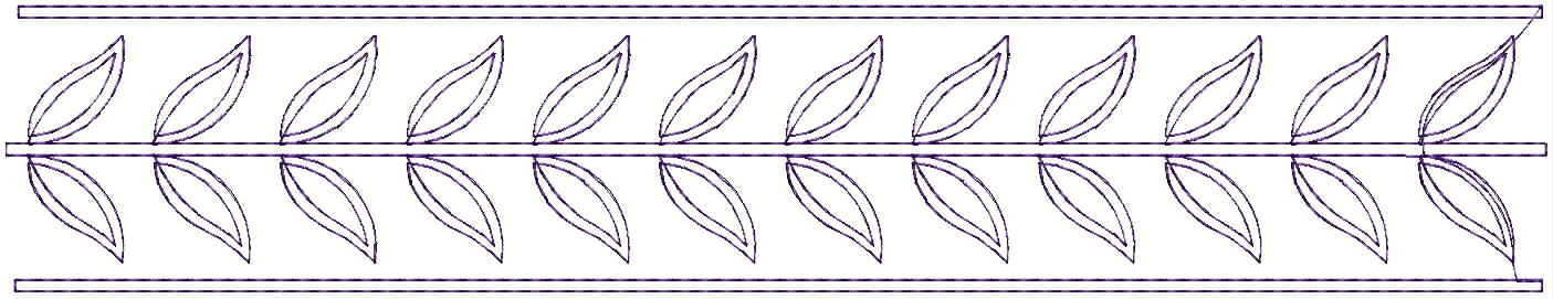 Leaf climber Lace / Border Embroidery Design