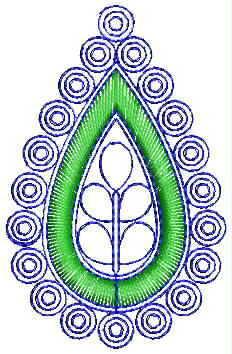 Leaf concept butta Embroidery Design