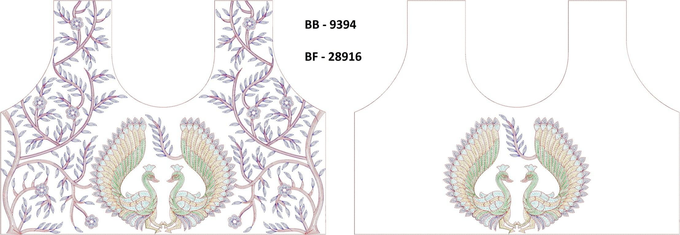 Figure  concept Blouse / Choli Embroidery Design