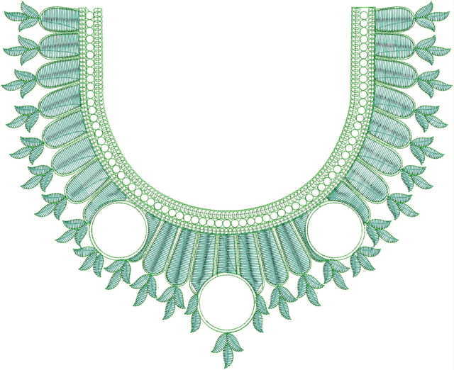 fancy Neck / Gala  embroidery Design