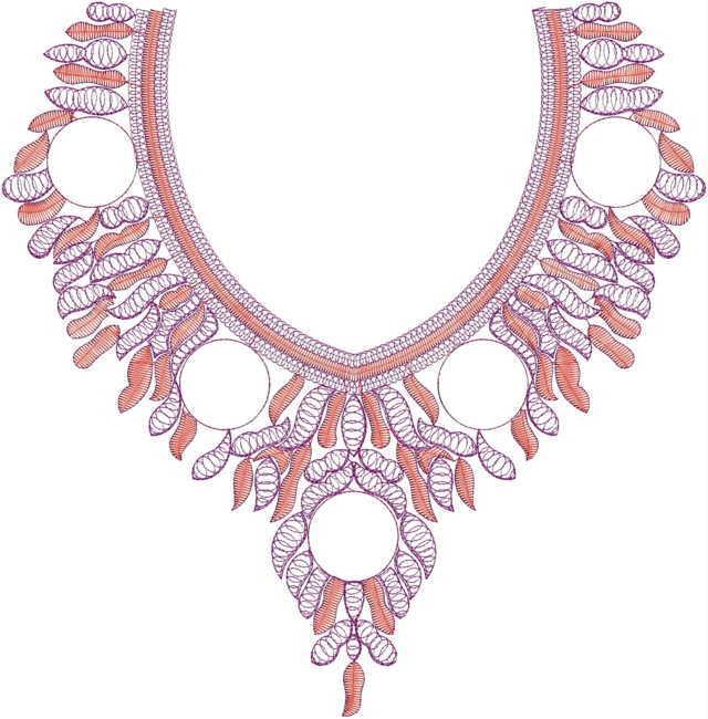 Fashioable cording kurti &dress Neck / Gala  embroidery Design