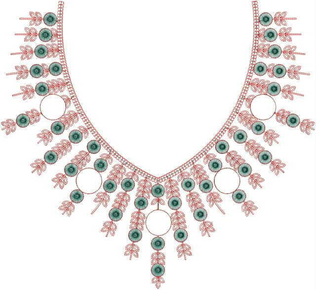 Unique  Neck / Gala  embroidery Design