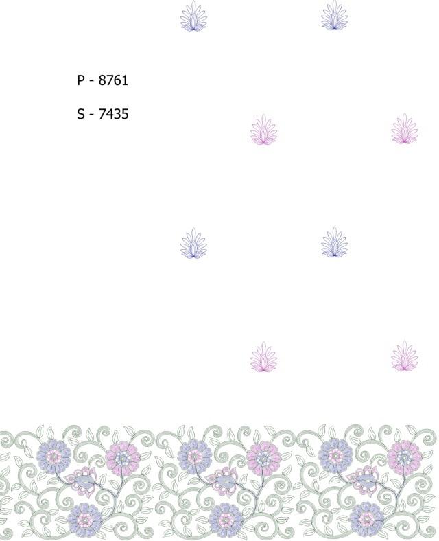 fancy flower climber jaal panel pallu skt saree embroidery designs