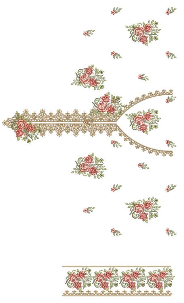 pakistani singal head panal top /duptta embroidery design