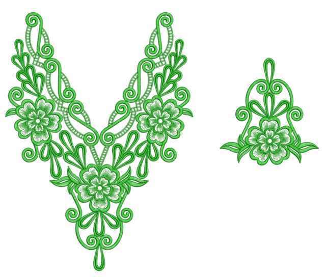 Arabic neck embroidery designs