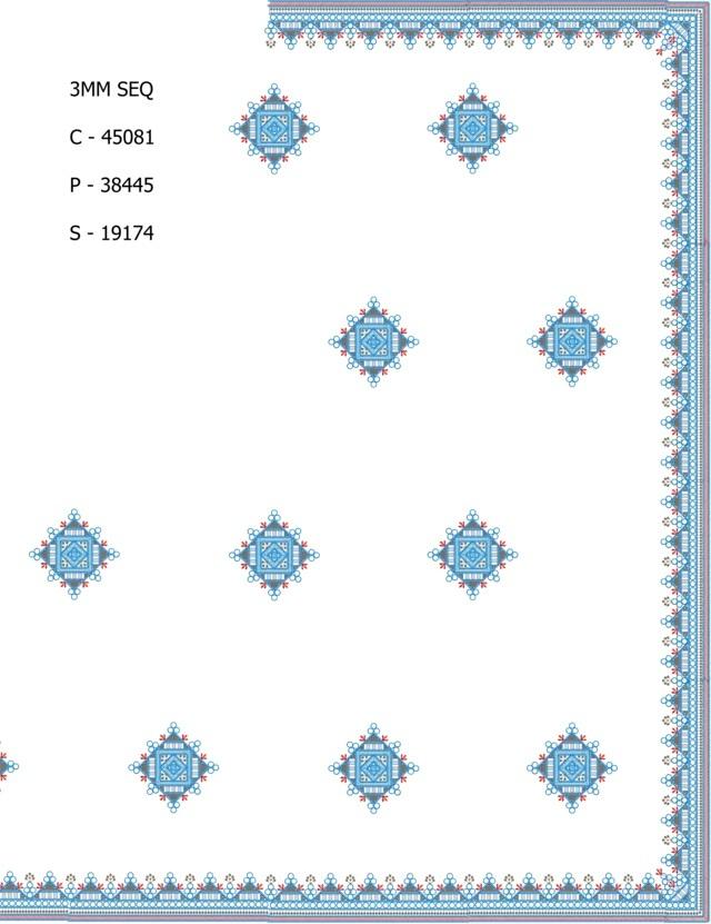 3mm sequins c pallu skt saree Embroidery Design