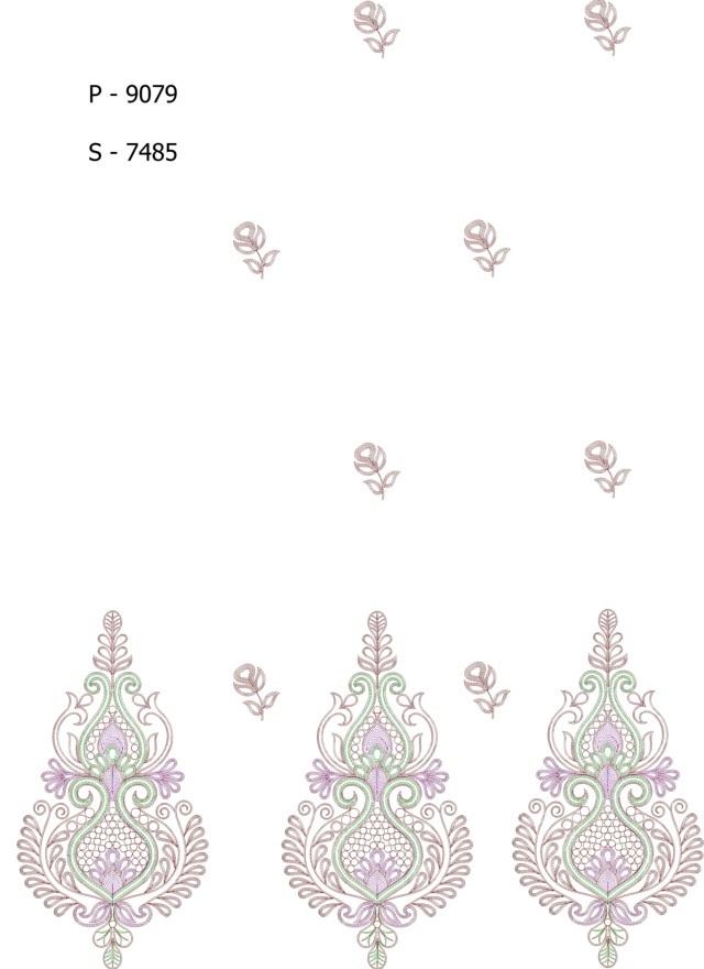 Beautiful concept butta panel pallu skt  Saree Embroidery Design