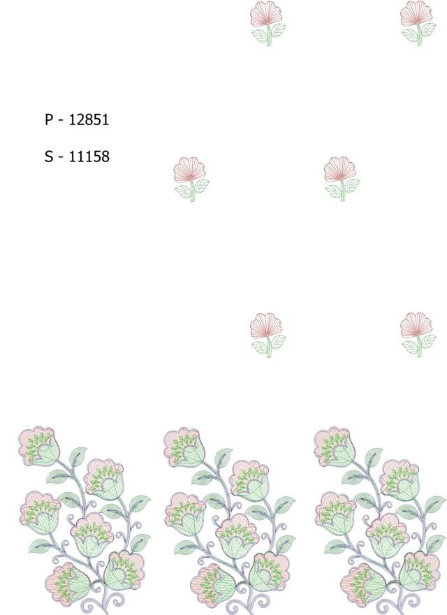 Beautiful flower concept panel pallu skt  Saree Embroidery Design