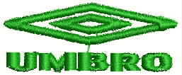UMBRO Logo Embroidery Design
