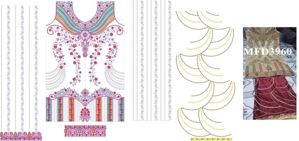 Heavy panjabi pakistani suits /duptta  embroidery Design