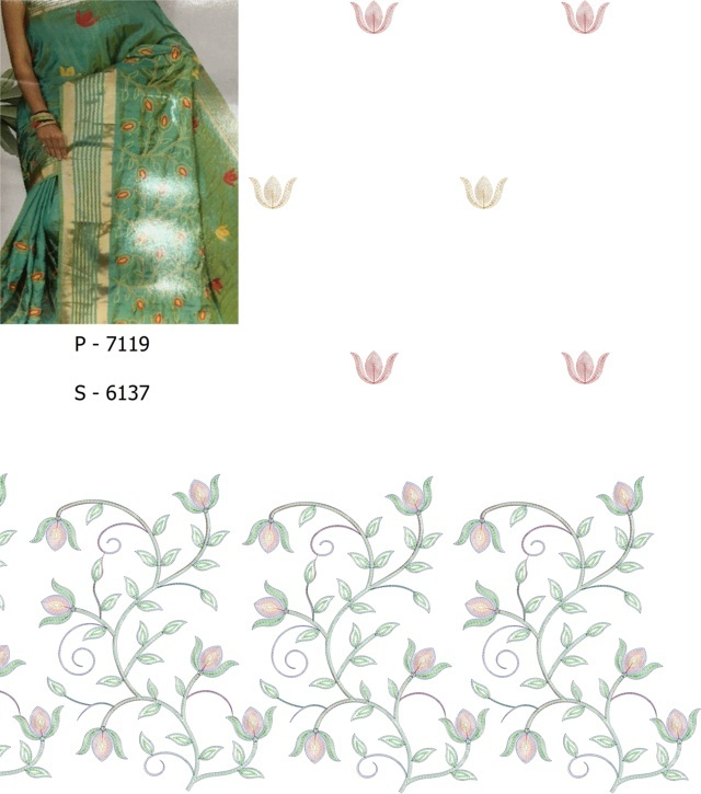 awesome work concept panel pallu skt saree embroidery designs
