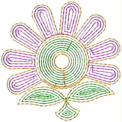 Small flower Butta Embroidery Design