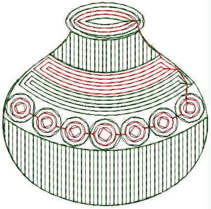 Matka Figure concept butta Embroidery Design
