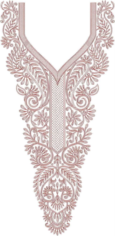Neck / Gala Embroidery Design