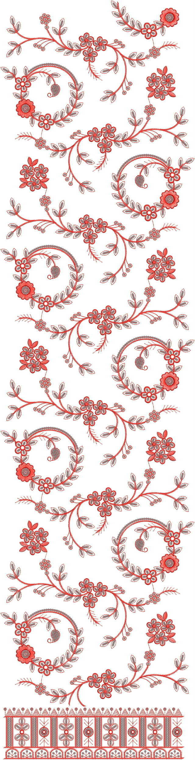 Jaal concept  duptta  embroidery  design