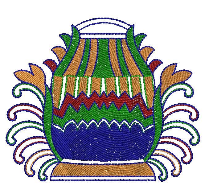 Beautiful cup figure concept butta embroidery designs
