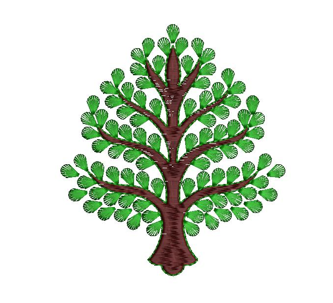 tree figure concept butta embroidery designs