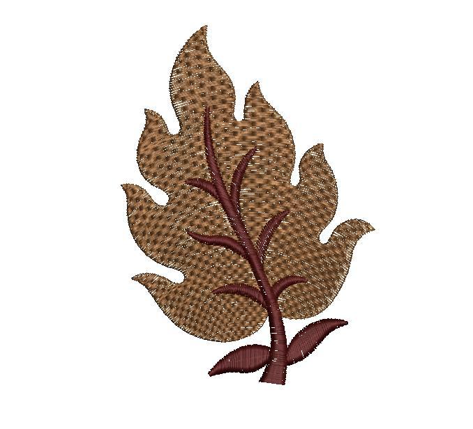 Beautiful single Leaf figure concept butta Embroidery Design