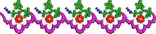 leca border & corner Embroidery Design