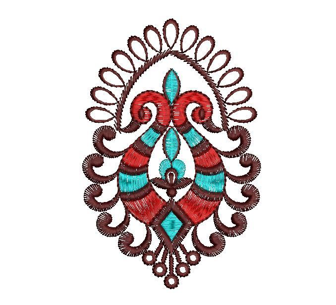peacock concept Figure Butta Embroidery Design